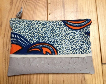 Wax imitation leather pouch