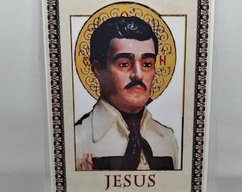 Jesus Malverde rezo tarjeta laminada laminated prayer card