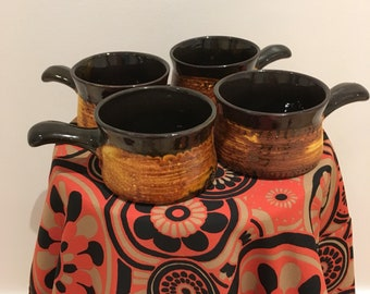 Vintage Stonewear Retro French onion Soup Bowl