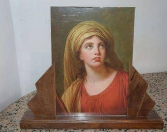 art deco wooden picture holder