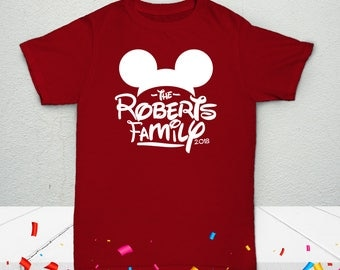 Kids' Disney Mouse Walt Personalized Family T-Shirt - Celebration Custom Tees