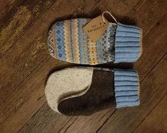 Minne-Snowta Mittens, made from recycled wool sweaters