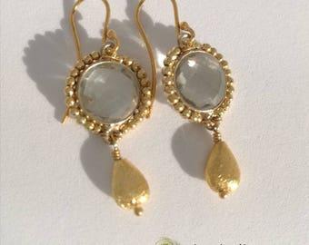 Amethyst Earrings Gold