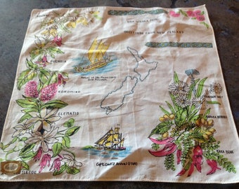 Vintage New Zealand Greetings , Flora Captain CooK!