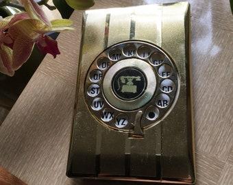 Vintage Mid Century  Telephone  Address Book Rotary  Dial Pop Up - Unused