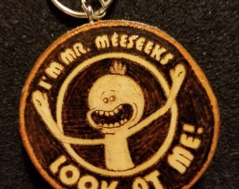 MR MEESEEKS Keychain