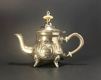 Vintage Silver Embossed Moroccan Tea Pot