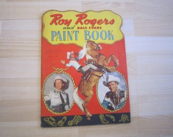 Roy Rogers and Dale Evans Paint Book - 1950 - nice!