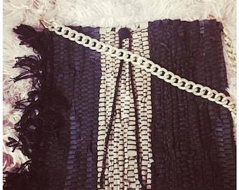 Handmade bag leather rag shoulder bag