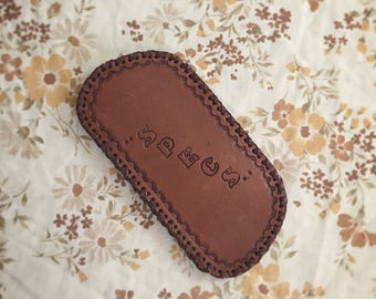 Vintage Tooled Leather Sunglasses Case
