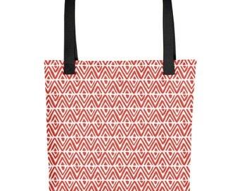 Cherry Tomato Diamond Tote Bag