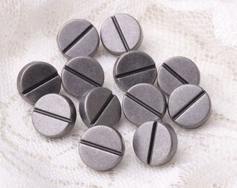 round buttons with a crevice 10pcs 9*6mm light black metal zinc alloy buttons shank buttons