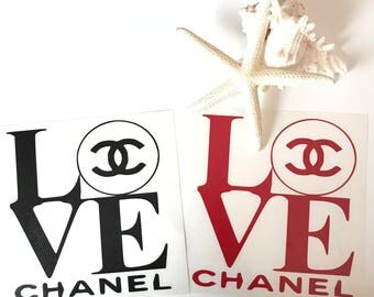 Chanel LOVE Vinyl Decal