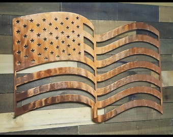 American Flag Metal Wall Décor