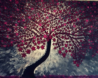 Acrylic Pictures: Autumn tree