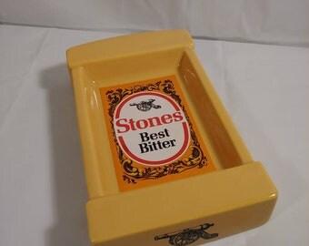 Vintage Glass Stones Best Bitter Ashtray