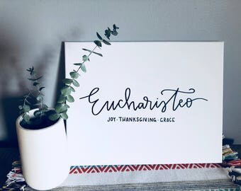 Eucharisteo Canvas