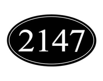 Personalized Address Plaque Metal Street House Numbers Customized SignWarehouseUSA HP001