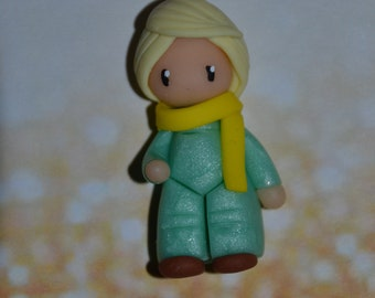 Poppet representing the little prince - Collection of tales and legends - jewelry polymer clay handmade