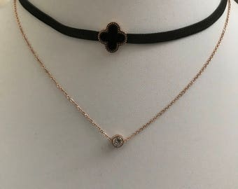Hypoallergenic, Fashion Jewelry, Choker, Stainless Steel, Gold Necklace, Rose Gold Jewelry, Timeless, Gift for Her, Women, Girls, Wife,Lover