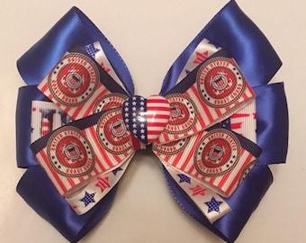 United States Coast Guard Hair Bow