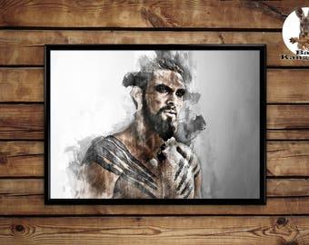 khal Drogo poster wall art home decor