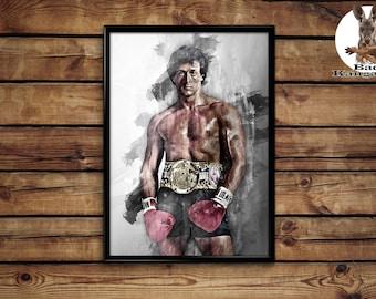 Rocky Balboa print wall art home decor poster
