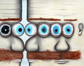 siamese triplets joined at the eyes