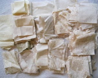 Stash-Buster Neutral Cotton Quilting Fabric Scraps #2