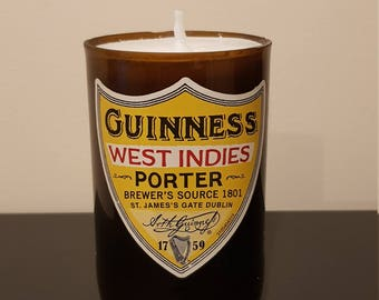 Guinness Beer Bottle Candle