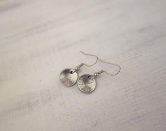Earrings with engraving (earrings, stainless steel, name)