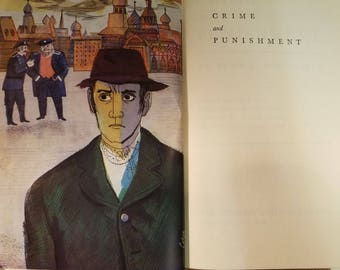 1953 Crime and Punishment Fyodor Dostoevsky with Illustrations