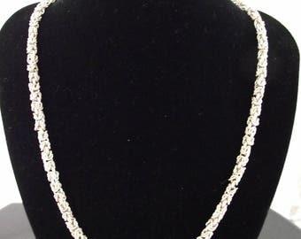 Vintage 1960's/1970's Heavy 925 Silver Necklace