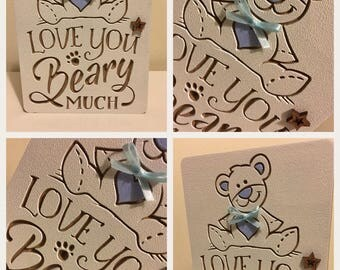 Freestanding 'Love You Beary Much' plaque