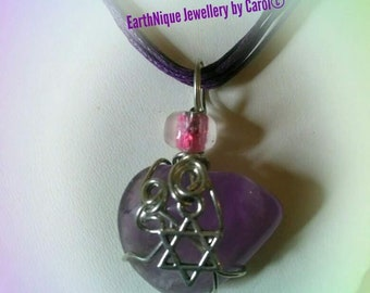 Amethyst with Star of David Pendant Necklace