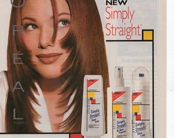 Loreal Studio Line Hair Care Products Vintage Prind Ad 1994