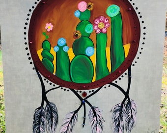 An Evening in Nevada | Dream Catcher Acrylic Painting