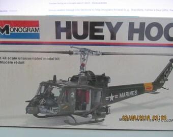 Monogram Huey Hog 1/48 Scale Unassembled Model Kit  1977 Unopened