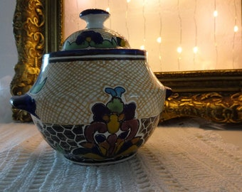 Mexican jar with lid