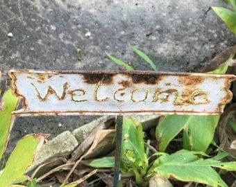 Rustic Garden Welcome Sign Photo Art #16