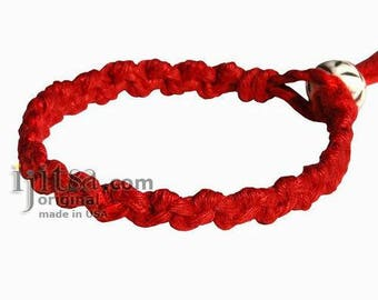 Red Hemp Chain bracelet or Anklet
