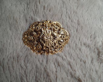 "1960's Victorian Revival Brooch Signed ""Freirich"""
