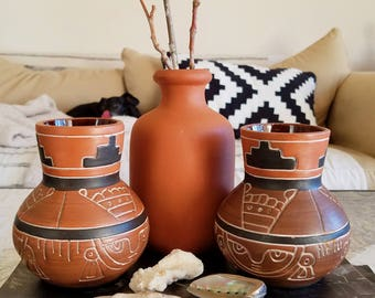 Terra Cotta Vase Collection - Sold Separately