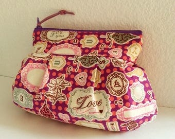 Pink Pink - Zipper Pouch with Clip