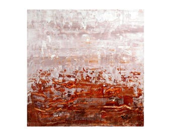 ORIGINAL Abstact Painting, GeoHorizon 43 by Lisa Carney, Acrylic on Wood, Modern Art, Palette Knife, Contemporary, Minimalist, FREE SHIPPING