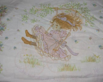 Vintage Pillowcase, Roth International 1979, Pillowslip, Heart that loves is always young, Make each day the happiest day of your life