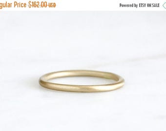 ON SALE 14k gold brushed band, eco friendly, wedding band, everyday ring, solid recycled gold, handmade, wedding ring, recycled wedding ring