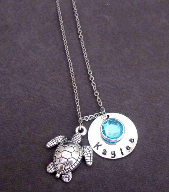 Turtle Necklace, Personalized Turtle Necklace,Turtle Silver Beach Jewelry,Sea Turtle Necklace, Beach Wedding Gift ,Free Shipping In USA