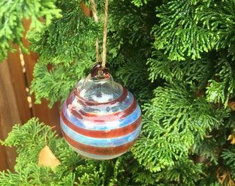 Glass Ornament/ Christmas Ornament / Glass Art / Handblown