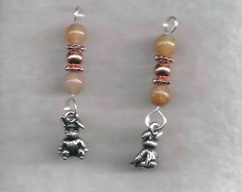 Pewter Rabbit Earrings